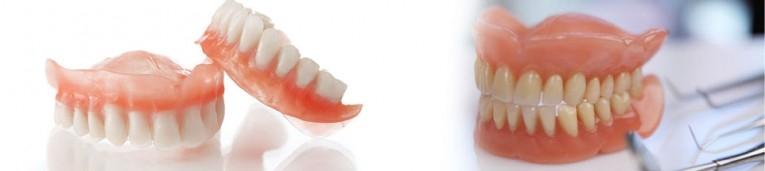 تركيب طقم الاسنان الثابت والمتحرك